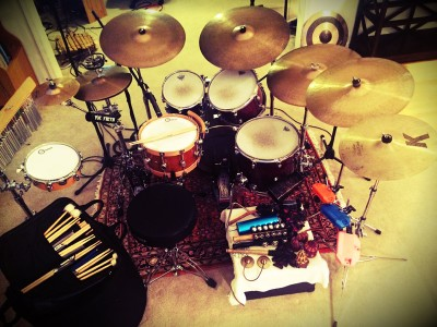 Jeremy's Studio Drum Set