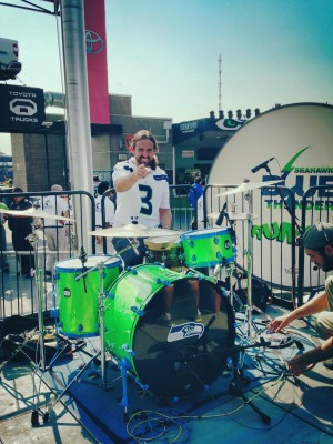 Jeremy Jones Seahawks Drumset